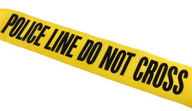 Police Line Tape. Used at crime scenes Royalty Free Stock Image