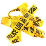 Police Line Tape. Police Line Do  Not Cross Stock Images