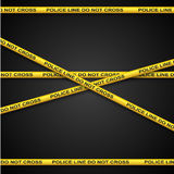 Police line tape. Royalty Free Stock Photo