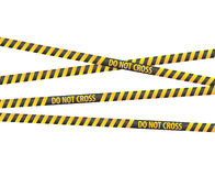 Police line tapes. For your artwork Royalty Free Stock Image