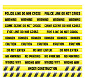 Police line tapes with a blank isolated. Main warning signs with a blank tape to create your own. Tapes are made so that it was easy to make a pattern of any Stock Photography
