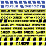 Police line tapes Royalty Free Stock Images