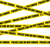 Police lines. Do not cross. Crime scene. Royalty Free Stock Photography