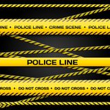 Police lines Stock Photos