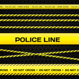 Police lines Royalty Free Stock Photography