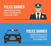 Police logos and banners. Elements of the police equipment icons Royalty Free Stock Photography