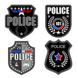 Police logos. Isolated on white background royalty free illustration