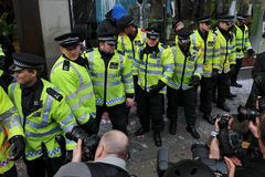 Police at London Riot Stock Images