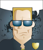 Police man. Vector illustration of American cop with sunglasses Stock Photos