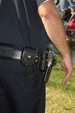Police Man,. Police officer and gun holster Royalty Free Stock Photo