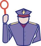 Police man. Hand drawn illustration of an Italian policeman vector illustration