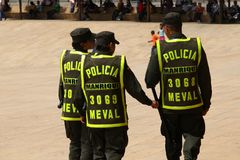 Police in Colombia stock photo