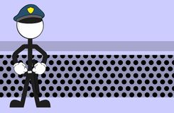 Police man pictogram cartoon background angry Stock Image