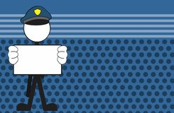 Police man pictogram cartoon background Royalty Free Stock Photos