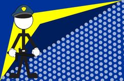 Police man pictogram cartoon background2 Stock Photo