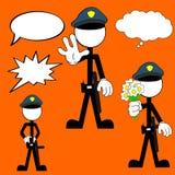 Police man pictogram cartoon set Stock Photography