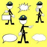Police man pictogram cartoon set2 Royalty Free Stock Image