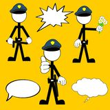 Police man pictogram cartoon set5 Stock Photo