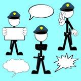 Police man pictogram cartoon set6 Stock Photography