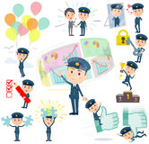 Police man success & positive Royalty Free Stock Photography