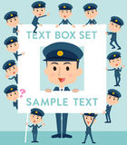 Police man text box Stock Photography