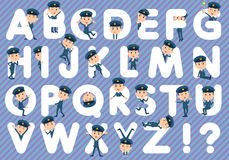 Police man A to Z Stock Photography