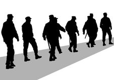 Police mans people Royalty Free Stock Image