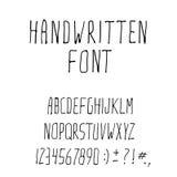 Police manuscrite d'alphabet d'encre Images libres de droits