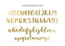 Police manuscrite de brosse Calligraphie moderne de style tiré par la main de brosse illustration libre de droits