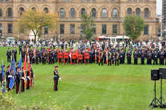 Police Memorial in Ottawa Stock Photo