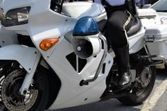 Police Men on Motorbike Stock Images
