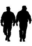 Police men two. People of special police force on white background Stock Photo