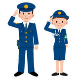 Police men and women Royalty Free Stock Photo