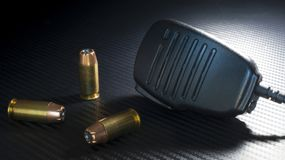 Hollow points and mike Royalty Free Stock Photo