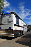 Police Mobile Command Post. With on-site radio equipment, functions as a scaled-down dispatch center. It also has equipment to tie in several different radios/ Royalty Free Stock Photography