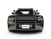 Police modern car. On a white background, night version with tactical lights also available Royalty Free Stock Photo