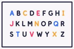 Police moderne d'alphabet Majuscules de l'alphabet latin illustration libre de droits