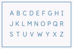 Police moderne d'alphabet Majuscules de l'alphabet latin illustration stock