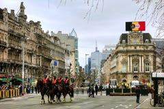 Police montée à Bruxelles photo libre de droits