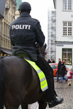 Police montée Photographie stock