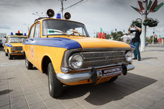 Police Moskvitch 412 Royalty Free Stock Image