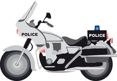 Police motor. Vectors illustration shows a police motorcycle stock illustration