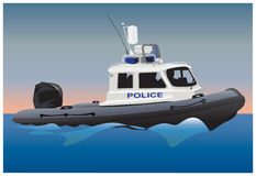 Police motor boat Stock Photography