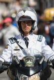 Police on motorbike in Ecuador Stock Image