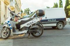 Police Motorbike in Malta, Pulizija Stock Photo