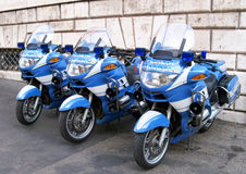 Police motorbikes in Rome Royalty Free Stock Photos