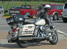 Police Motorcycle. At traffic stop Stock Image