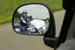 Police Motorcycle Cop Royalty Free Stock Photography