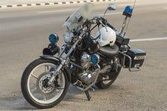 Police motorcycle Havana Stock Image