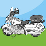 Police Motorcycle Stock Photography